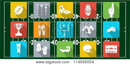 Set of sport icons, signs and symbols.