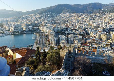 Amazing Panorama to Kavala, East Macedonia and Thrace