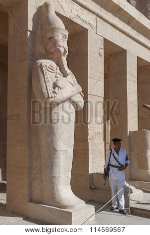 Armed Security In Temples Egyptians