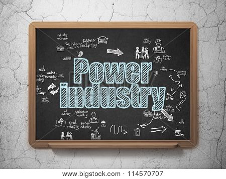 Industry concept: Power Industry on School Board background