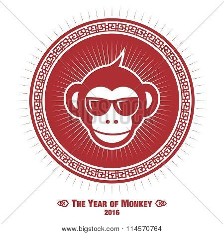 Vector Creative Fusion Style Monkey of Year Illustration