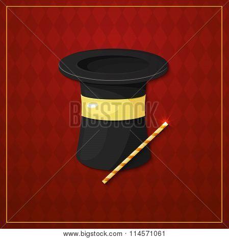 Magician logo, vector illustration