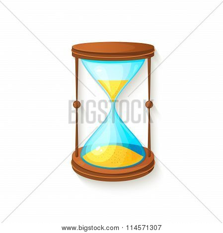 Hourglass icon, vector illustration