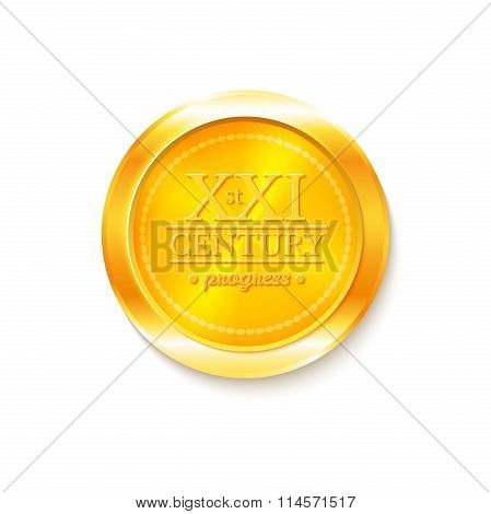 Gold medal award, vector illustration
