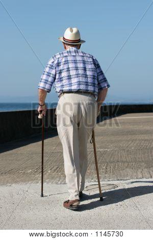 Behinderte gentleman