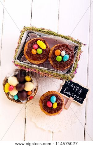 Easter Cupcakes With Chocolate