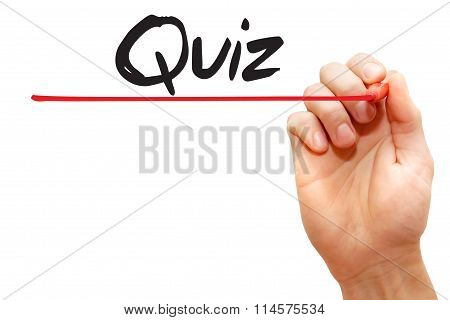 Hand Writing Quiz, Business Concept..