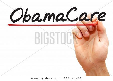 Hand Writing Obamacare
