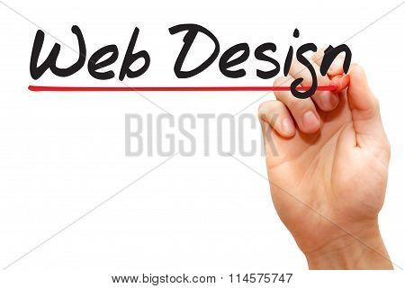 Hand Writing Web Design, Business Concept..