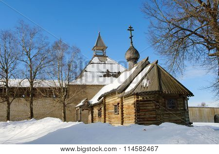 Ancient chapel. Fortress Staraya Ladoga