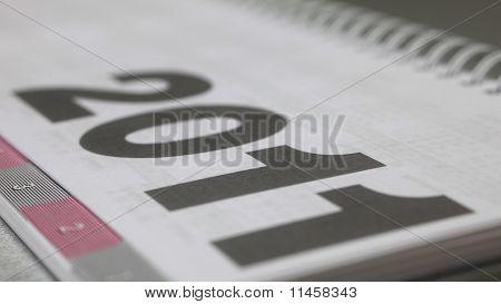 Kalender Seite, Nahaufnahme