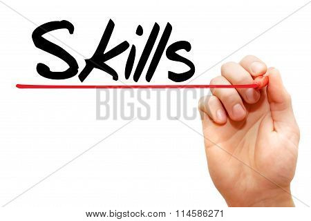 Hand Writing Skills, Business Concept