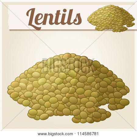 Lentils. Detailed Vector Icon
