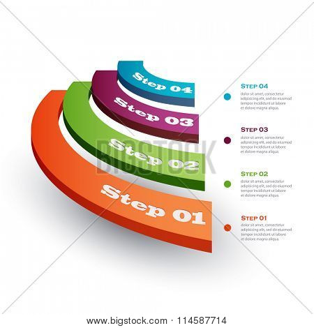 Vector illustration infographics stage