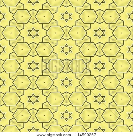 Gold decorative ornaments. 3d rendered golden wall background.