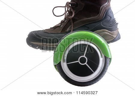 Big Boot Riding A Hover Board