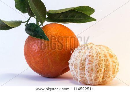 Peeled Tangerine And Tangerine