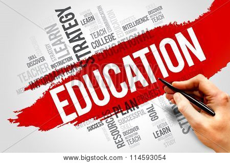 EDUCATION word cloud concept , presentation background