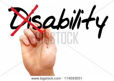 Disability Into Ability