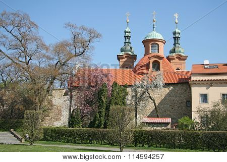 Prague, Czech Republic - April 19, 2010: Cathedral Church Of Saint Lawrence On Petrin Hill In Prague