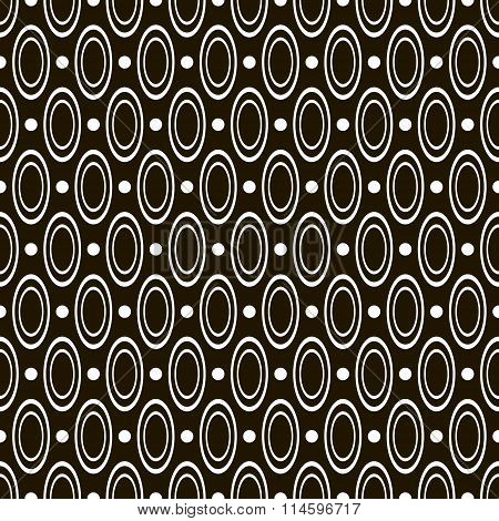 Abstract Seamless Geometric Pattern Of Circles And Rings