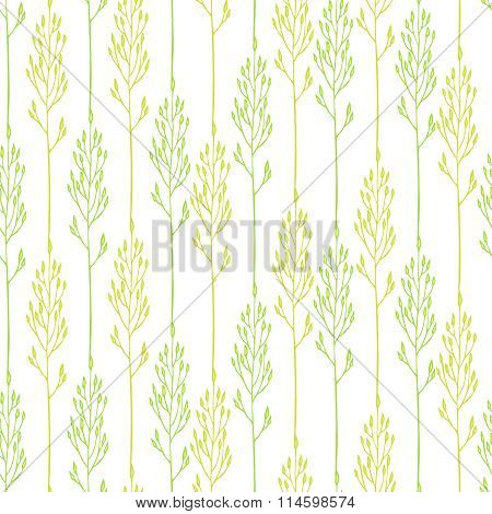 Floral Pattern With Spikelets
