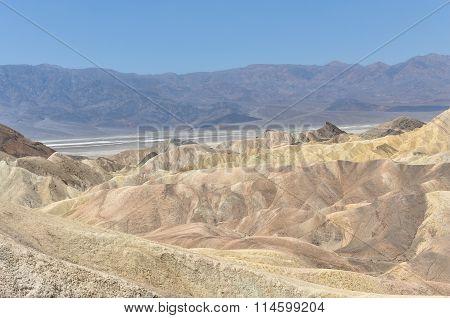 View of the Zabriskie Point, California