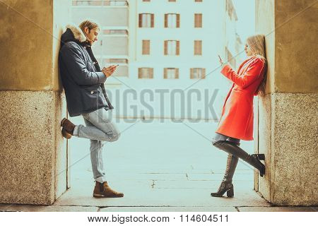 Couple With Cellphones