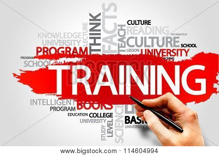 TRAINING word cloud business concept, presentation background