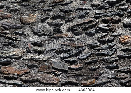 old grey stone wall background