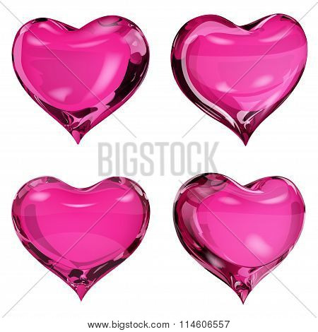 Opaque Pink Hearts
