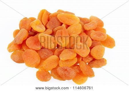 Dried Fruits Of Apricot Isolated On White Background
