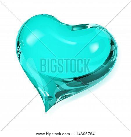 Opaque Turquoise Heart