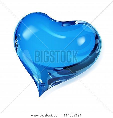 Opaque Blue Heart