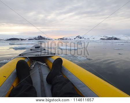 Kayaking Antarctica Ice Field Horizon