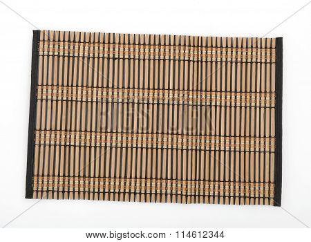 raffia napkin plate isolated on white background