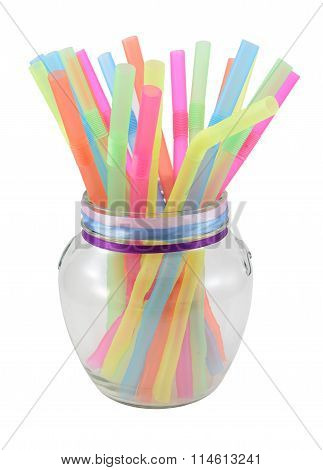 Colorful Drink Straw Tubs