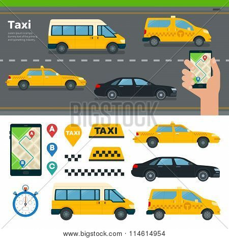 App for Booking Taxi Different Types