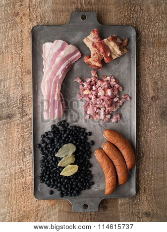 Rustic Brazilian Feijoada Pork And Black Bean Stew Ingredient