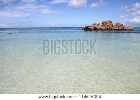 Araha beach in Chatan town Okinawa Japan