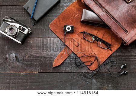 Hipster stuff bag