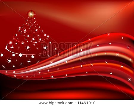 Christmas Theme With Wave Concept