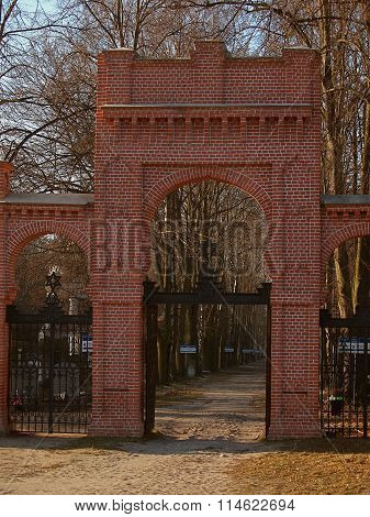 The gate to the cemetery.