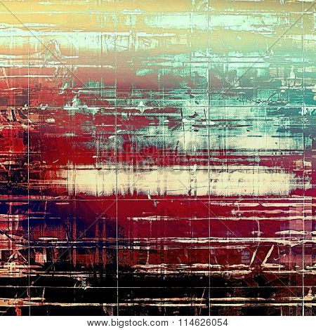 Retro background with grunge texture. With different color patterns: yellow (beige); brown; black; blue; red (orange)