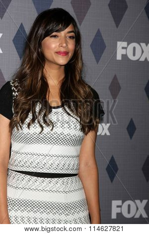 LOS ANGELES - JAN 15:  Hannah Simone at the FOX Winter TCA 2016 All-Star Party at the Langham Huntington Hotel on January 15, 2016 in Pasadena, CA
