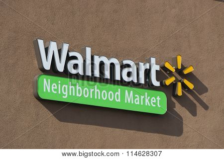 Walmart Neighborhood Market Sign And Logo