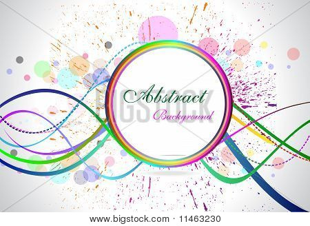 Abstract Colorful Circular Background With Grunge