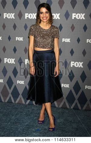 LOS ANGELES - JAN 15:  Natalie Morales at the FOX Winter TCA 2016 All-Star Party at the Langham Huntington Hotel on January 15, 2016 in Pasadena, CA