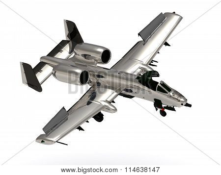 3D illustration Military jet airplane during airshow