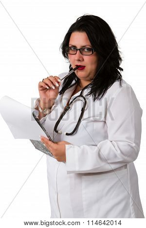 Female Doctor Whit A Clipboard